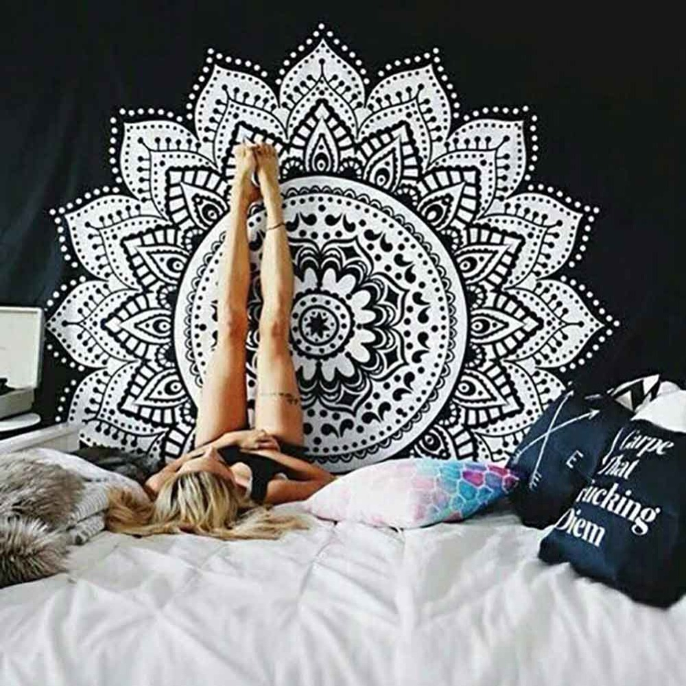 Wall Hanging Mandala Tapestries Indian Hippie Polyester Fabric Bedspread Picnic Blanket Wall Art Tapestry