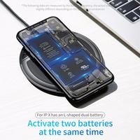 Baseus Collapsible Qi Wireless Charger for iPhone 8/X Multifunction Fast Wireless Charging for Samsung S9/S9+/S8 Huawei Xiaomi 2