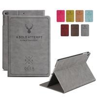 Pattern Case For IPad 2 Case Sleep Wake Up Flip 3D Embossing Leather Cover For