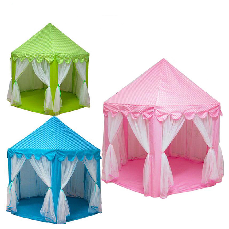 Play House Game Tent Toys Ball Pit Pool Portable Foldable Princess Folding Tent Castle Gifts Tents Toy For Kids Children Girl(China)