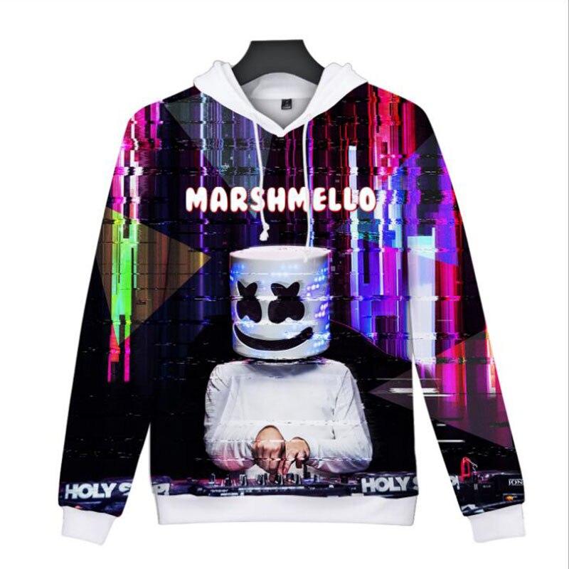 Unisex Marshmello Hoodie Sweatshirts Jacket Coat Baseball Uniform Marshmello DJ Fans Costume Cosplay 3D Printing Full Color
