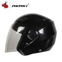 NENKI Motorcycle Open Face Helmet Street Bike Motorbike Moto Cruiser Chopper Touring Scooter Riding Helmet And