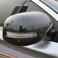 For Mitsubishi ASX 2010 2019 2pcs/set Car Side Mirror Carbon fiber/ABS Rear view mirror Cover Exterior Car styling Accessories