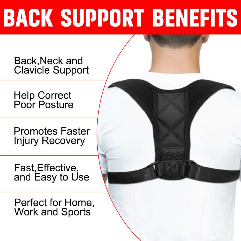 Hombre mujer ajustable magnético Corrector de postura corsé cinturón trasero Lumbar soporte recto Corrector de espalda