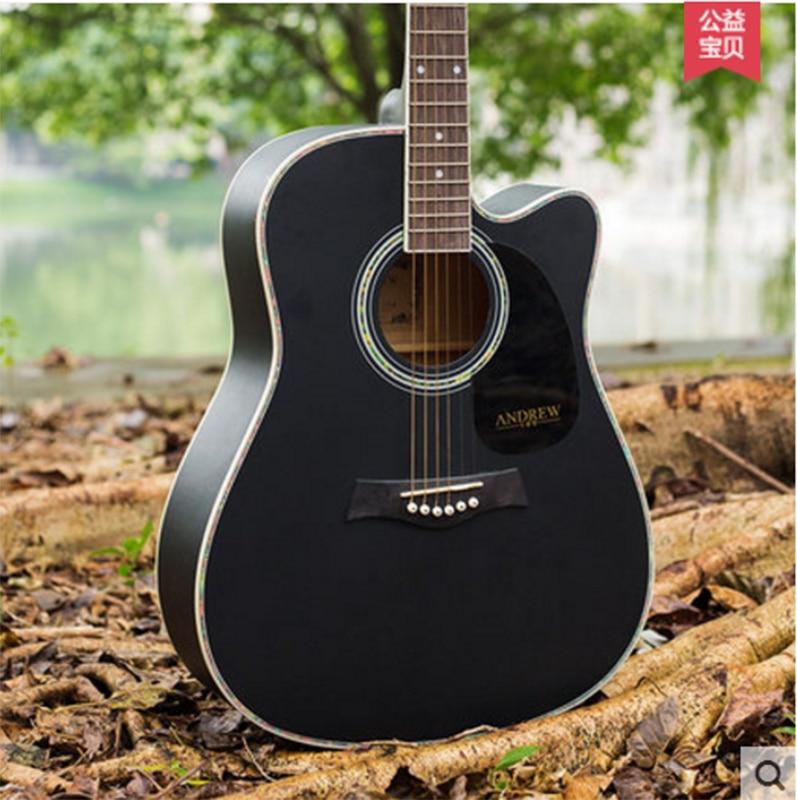 Andrew guitar folk guitar linden wood guitar beginner 40 inch 41 inch andrew zebra in the 23 inches mr kerry wood small guitar beginners gray unisex ukraine lili