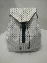 2017, Новая мода геометрический BAOBAO рюкзак большой Ёмкость лоскутное алмаз решетки Bao известный бренд шнурок