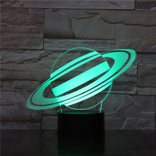 3d Illusion Led Lamp Star Planet Touch Switch 7 Color Changing for Home Office Room Decoration Gift for Kids Led Night Light 3d 3d visual illusion camping bus led lamp transparent acrylic night light led lampa 7 color changing touch table bulbing room lamp