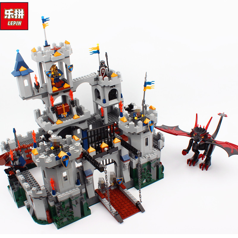 Lepin Genuine 16017 Castle Series The King`s Castle Siege Set Children Building Blocks Bricks Educational Toys Model Gifts 7094 new lepin 16008 cinderella princess castle city model building block kid educational toys for children gift compatible 71040