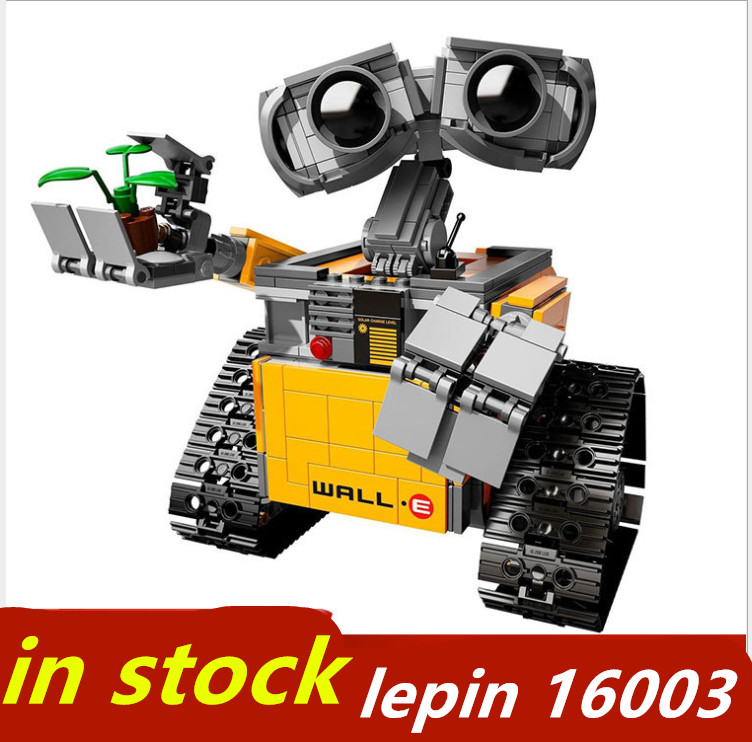 lepin WALLE Idea series lepin 16003 Robot compatible legoing WALL-E 21303 legoing Ideas Model Building Blocks Bricks toys wall e walle wall e robot models wall e
