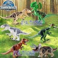 Dr. TONG20pcs/lot Динозавр мир Юрского парк большой Размеры тираннозавр DIY собрать строительных блоков Коллекция набор модель игрушки KR14