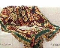 Hand knitting Retro nostalgia cotton carpet thin blanket tie dye Ethnic Art blanket bed cover living room bedroom Felts tapestry