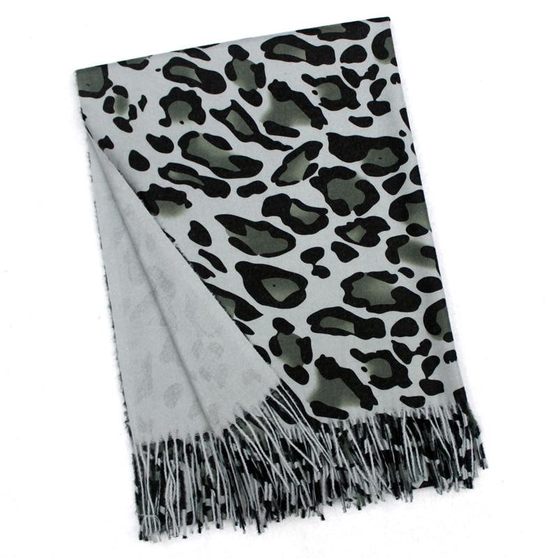 Digital Printing Women Winter Scarf Animal Leopard Cashmere Scarf