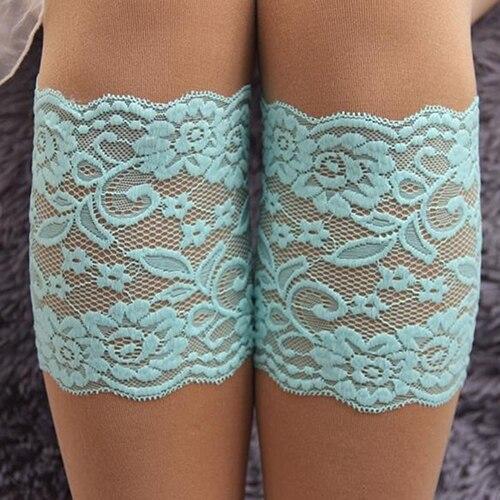 2017 Women Stretch Lace Hem Boot Cuffs Flower Leg Warmer Lace Trim Toppers Socks