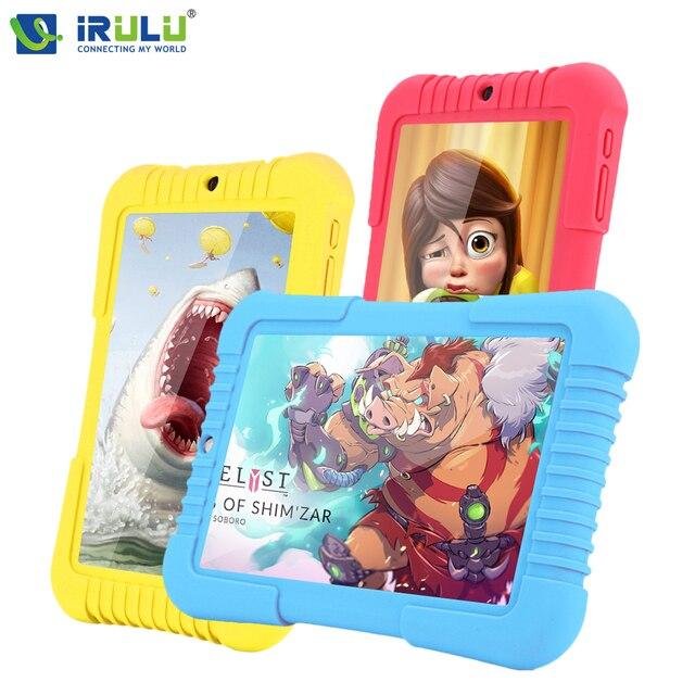 IRULU Y3 7 дюймов Babypad 1280*800 IPS A33 Quad Core Android 5.1 1280x800 Tablet PC GMS 1 ГБ 16 ГБ Силиконовый Чехол Подарок для дети