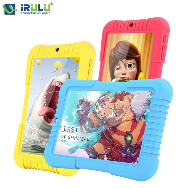 IRulu Y3 7 дюймов babypad 1280*800 IPS A33 Quad Core Android 5.1 1280x800 Tablette PC gms 1 ГБ 16 ГБ силиконовый чехол подарок для детей