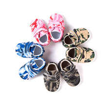 2019 New Camouflage Canvas Baby Shoes Boys and Girls Spring Autumn Velcro toddler soft shoes 0-1 Years old