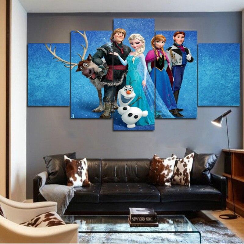 Slackinglifeforever Vente 5 Pièces Frozen Affiche Mur Art