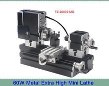 Metal Extra Hign Mini Lathe Machine TZ20002MG with 12000r min Powerful 60W Motor DIY Tools Chrildren