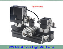 Metal Extra Hign Mini Lathe Machine TZ20002MG with 12000r/min Powerful 60W Motor  DIY Tools Chrildren's Gift