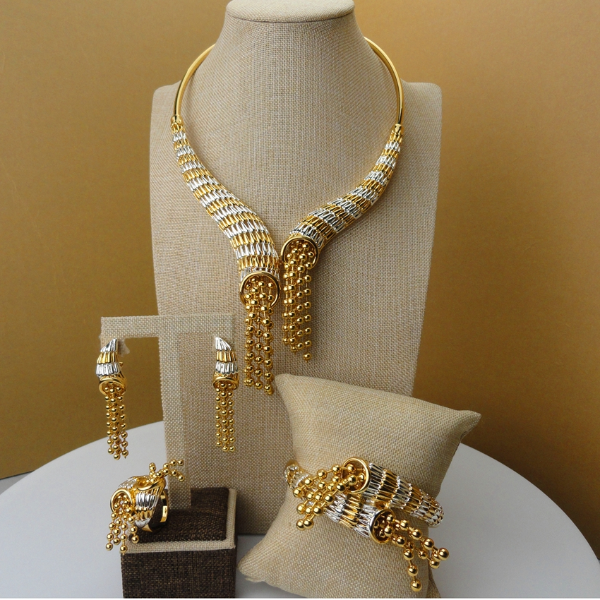 2019 Yuminglai 24Karat Dubai Gold Jewelry Sets Designer ...