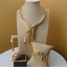 2019 Yuminglai 24Karat Dubai Gold Jewelry Sets Designer Fine Jewelry  FHK5360