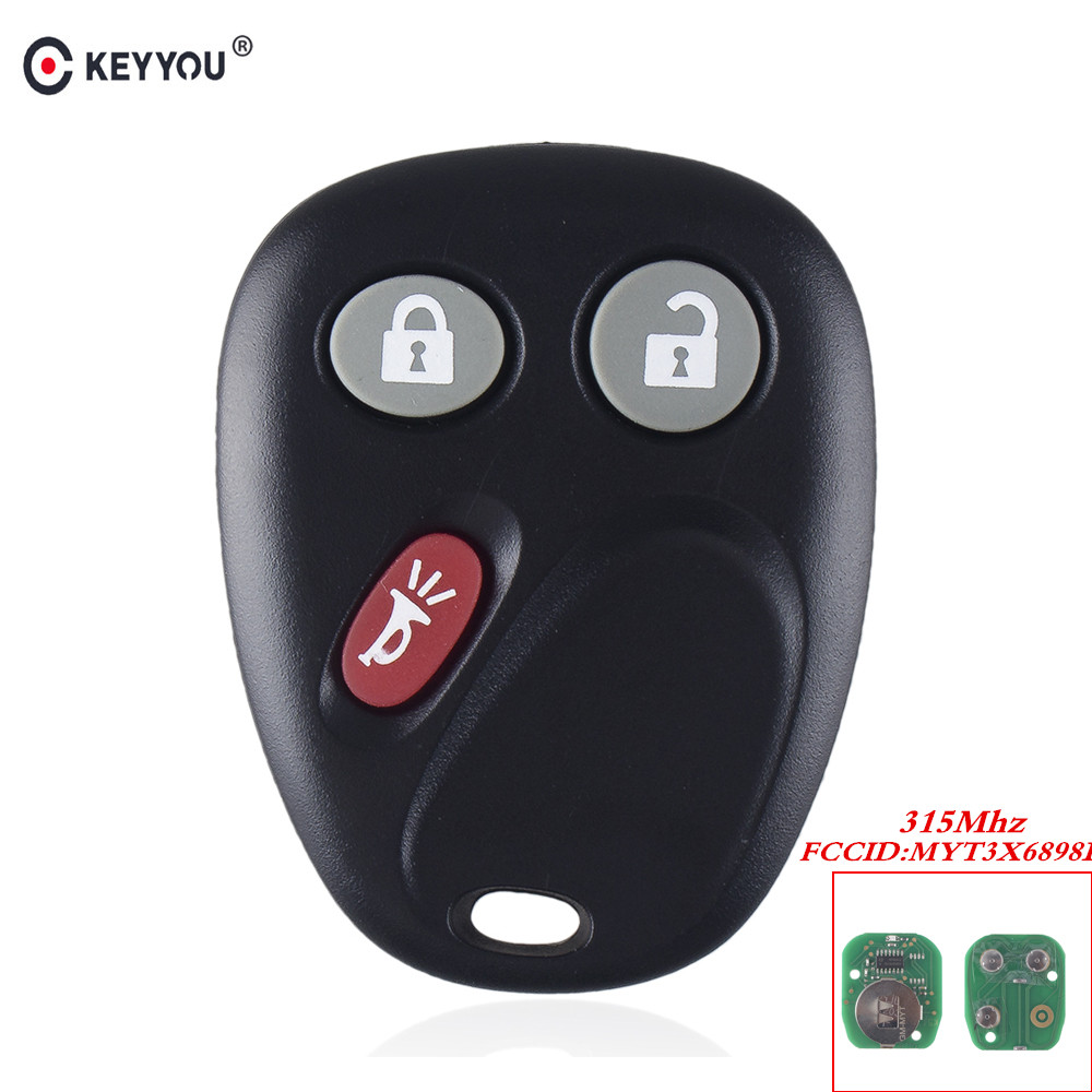 MYT3X6898B KEYYOU Para Chevrolet GMC Envoy Trailblazer 2002 2003 2004 2005 2006 2007 2008 2009 Remoto Keyless Chave Fob 315 mhz