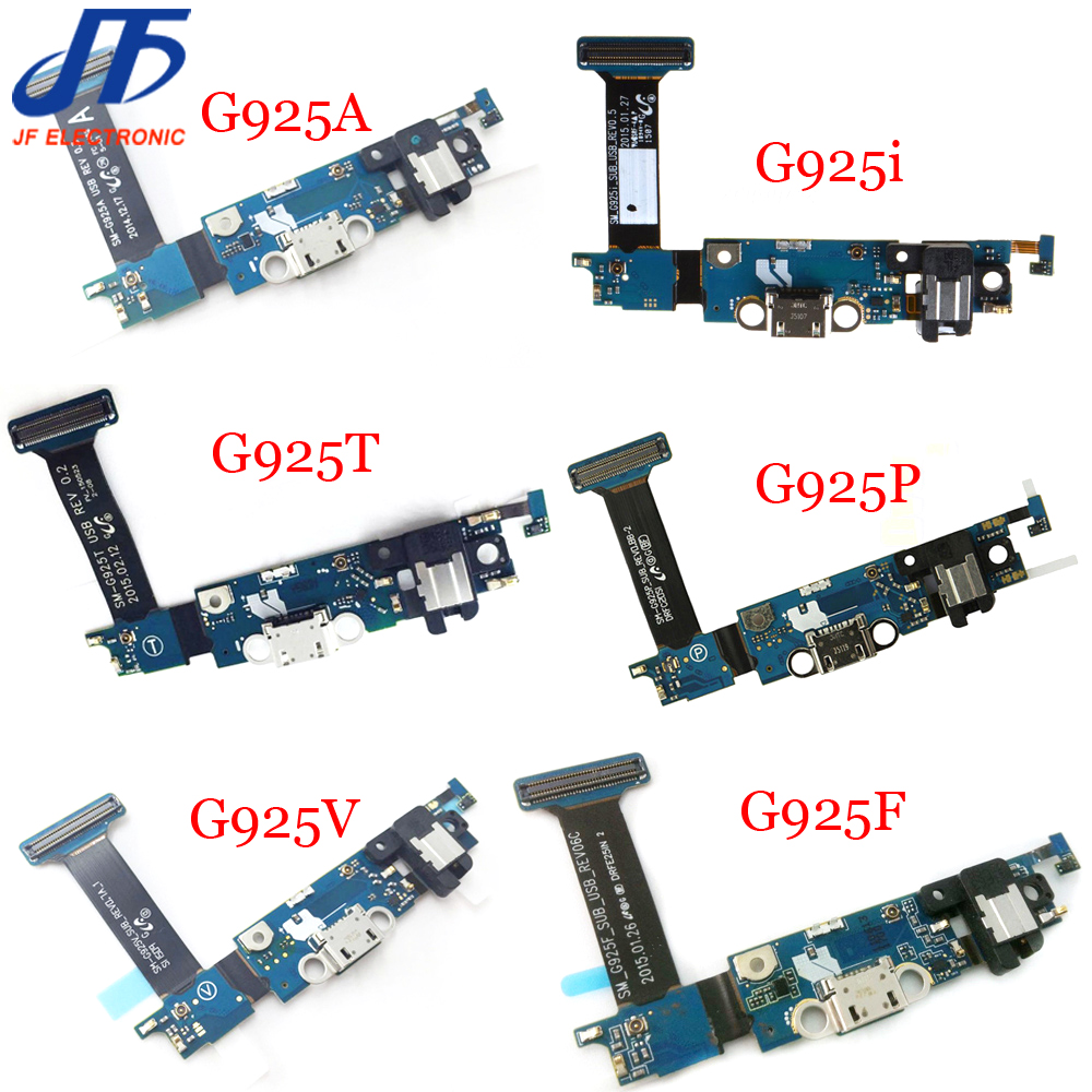 100pcs Dock Connector Charger USB Charging Port Flex Cable For Samsung Galaxy S6 edge G925A G925T