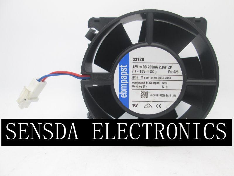 Original PAPST 3312U 12 V 2.4 W 2.8 W 90*90*32 MM ventilateur de refroidissement axial étanche