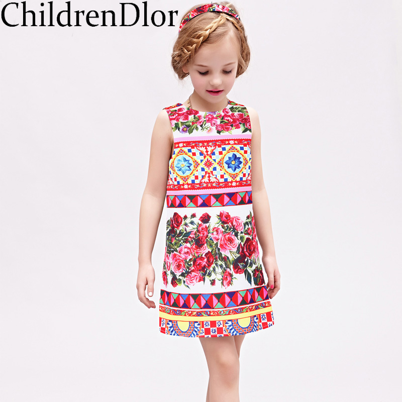 Подробнее о Princess Dresses for Girls Costume 2017 Brand Summer Girl Dress Children Clothing Rose Flower Robe Mariage Fille Kids Clothes robe fille 8 ans baby girl dress children clothing party casual princess dress girl for girls clothes kis dresses summer 2017