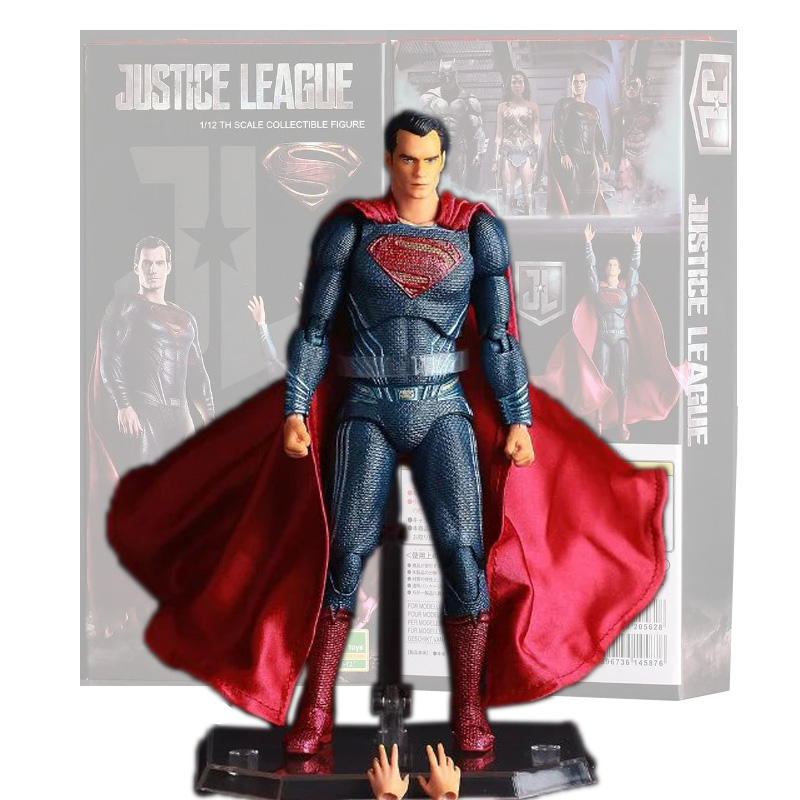 CRAZY TOYS Superman Figure Batman vs Superman Dawn of Justice Super Man PVC Action Figures Collectible Toy 16cm Free Shipping 30cm crazy toys batman figure 1 6th scale collectible joint move action figures real clothes free shipping