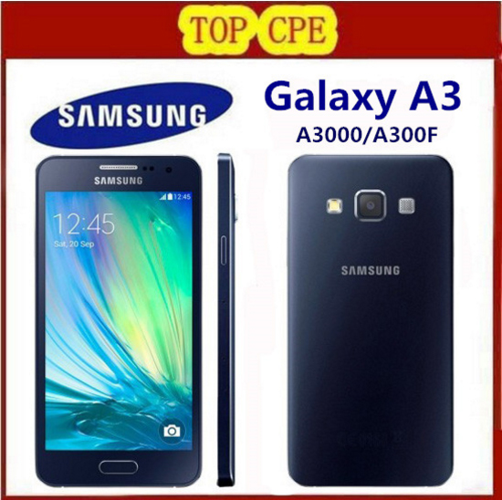 Hot Sale Smartphone Original Samsung Galaxy A3 A3000 A300F Quad-Core Android 4.5 Inch 8GB ROM 4G 8.0MP Camera Cell Phone