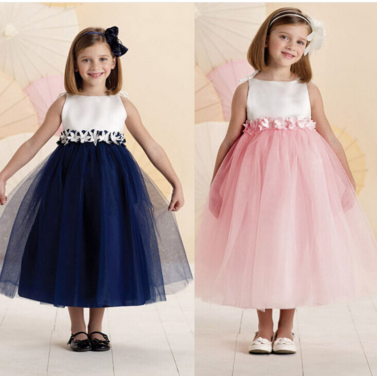 2017 Bridesmaid Girls Dress Party Princess Style Wedding