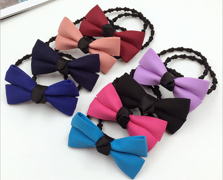 fashion bow girls elastic hair rubber bands ties accessories for women hair ring rope ornaments gum scrunchy headwear headdress