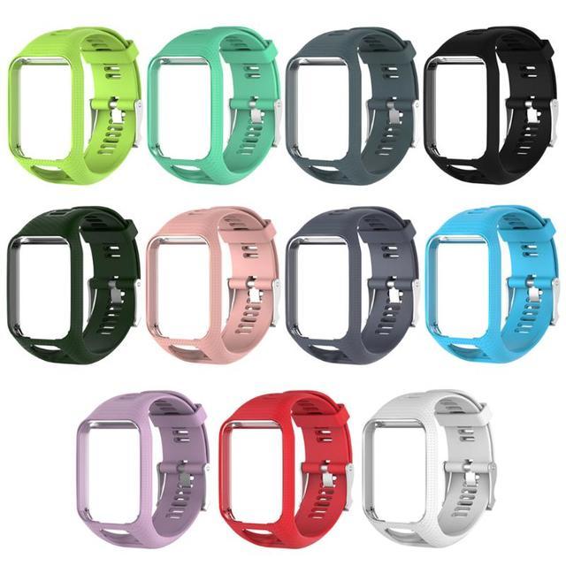 ALLOYSEED Silikonu Watchband Wymiana Ramki Inteligentny Zegarek Pasek do  TomTom Adventurer Runner 2 Golfista b9de5d5cb06