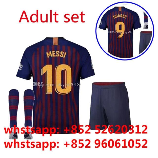 2018 2019 Barcelonaes home away shirt set 18 19 camisetas shirt survetement  World Cup man shirt 5b9673d765735