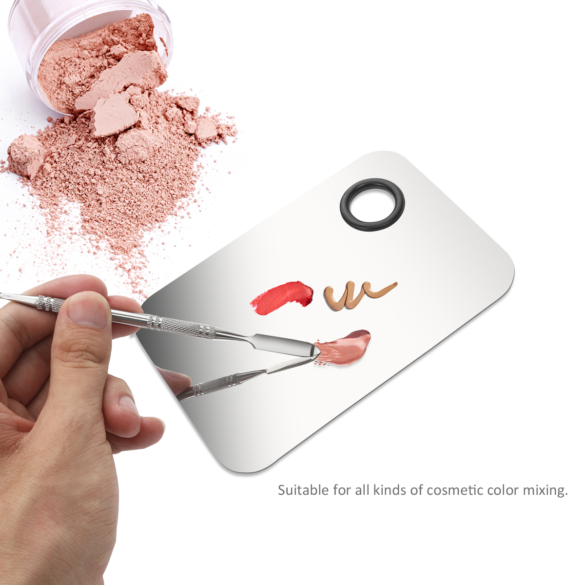 Online color mixer tool - 15 10cm Lady Stainless Steel Cosmetic Makeup Palette For Color Mixing Spatula Tool China