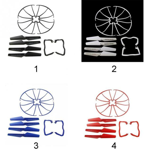 Lightweight Drone Accessories 4 pcs Blade/Tripod/Protection ring Main Propeller Replacement Spare Parts for Syma X5 X5C 6