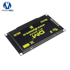 """Image 3 - Pantalla LCD Digital de 2,42 """"y 2,42 pulgadas Módulo de pantalla OLED C51, 12864x64, placa para Arduino, verde, amarillo, blanco y azul, SSD1309 STM32"""