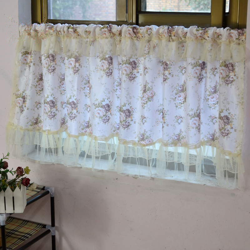 Popular Kitchen Curtains Lace Beige-Buy Cheap Kitchen Curtains ...