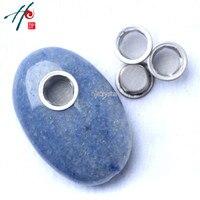 5-6 cm Doğal Şifa Kuvars kristal Oval Mavi-damarlar Taş Sigara Sigara Tütün Boru ile 3 Screeens dekor Noel Hediye