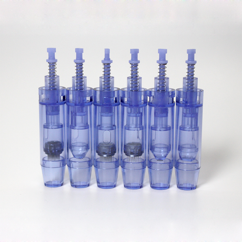 10pcs Blue Dr.pen Ultima A1 Needle Cartridges Skin Renew Microneedle Derma Pen Replacement Tattoo Tips(China)