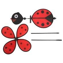 2019 Popular Bee Ladybug Windmill Whirligig Wind Spinner Home Yard Garden Decor Kids Toys