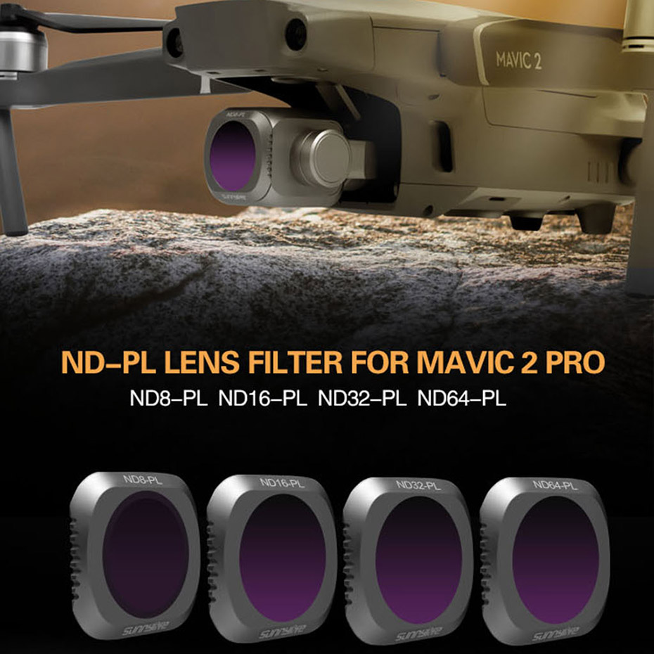 Drone Camera Filter Accessory ND8 ND16 ND32 ND64 PL Neutral Density Filters For DJI Mavic 2