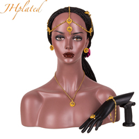 Ethiopian Small Jewelry Set Gold Color Hair Pice Necklace Earing Ring Hair Pin Bracelet African For