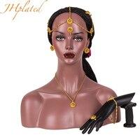Etiopski Mały Zestaw Biżuterii Złoty Kolor Włosów Pice/Naszyjnik/Orki/Pierścień/Włosy pin/Bransoletka Afryki dla Kobiet/Dziewczyna Prezenty Ślubne