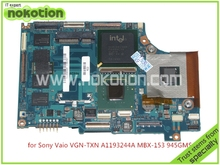laptop motherboard for Sony Vaio VGN-TXN A1193244A MBX-153 945GM DDR2