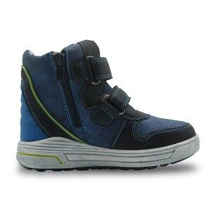 Image 3 - Apakowa autunno ragazzi stivali doppio gancio e passanti stivali a molla per bambini con Design a Zip per bambini bambini gambe larghe vestito scarpe per bambini