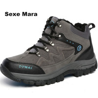 2017 Winter Sneakers Men Hiking Shoes High Top Anti Skid Anti Collision Woman Sport Shoes Climbing