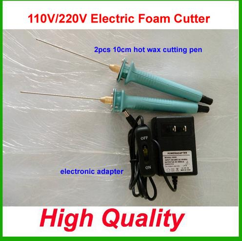 Hot Knife Styrofoam Cutter 2Pcs 10CM Pen CUTS FOAM KT Board WAX Cutting Machine Electronic Voltage Transformer Adaptor Eu Plug craft hot knife styrofoam cutter 1pc 10cm pen cuts foam kt board wax cutting machine electronic voltage transformer adaptor