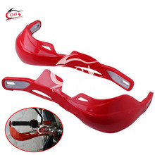 1 Pair RED HAND GUARDS MOTORCYCLE MOTOCROSS DIRT BIKE ATV SCOOTER MX HANDGUARD